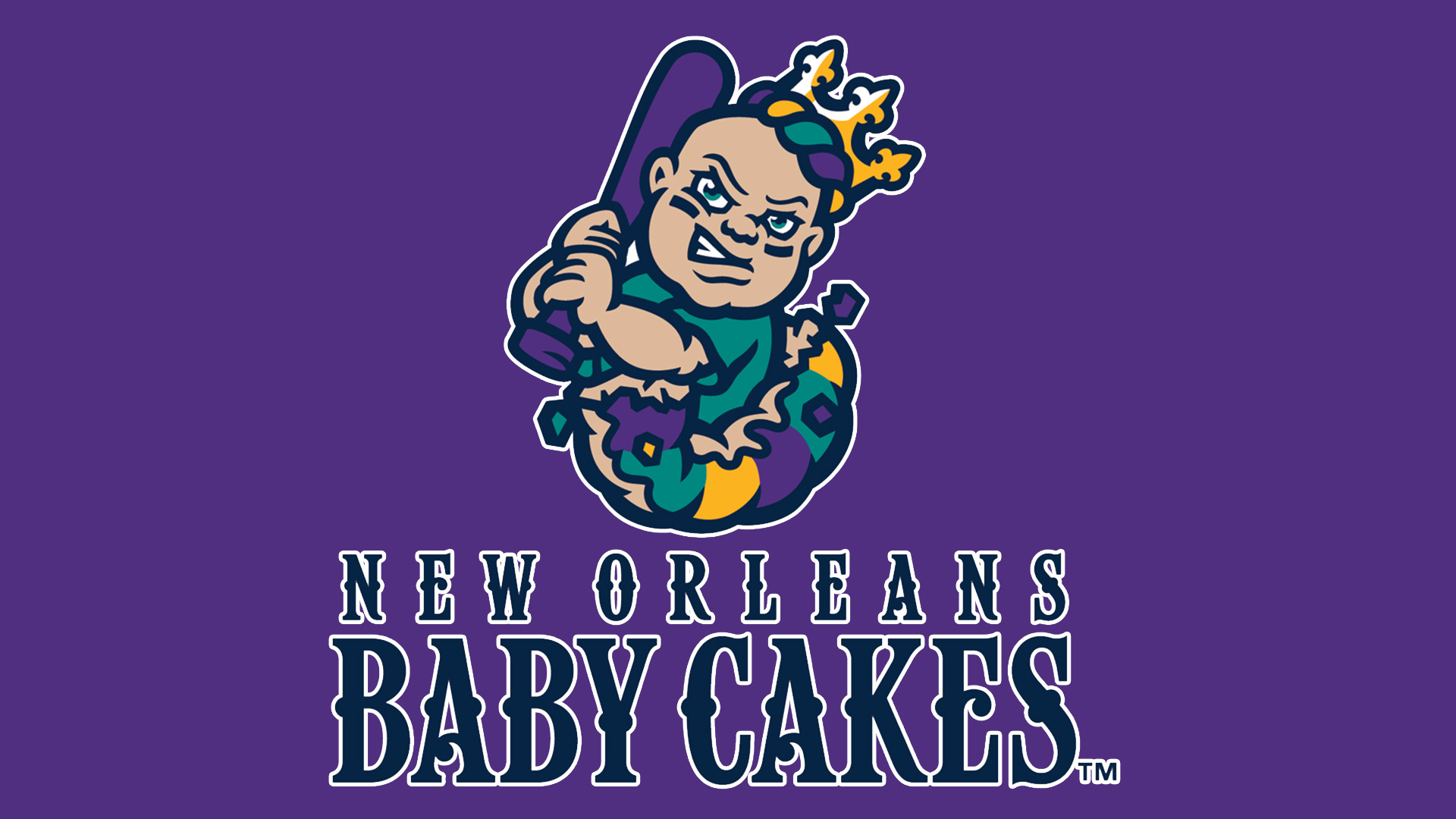 Meaning New Orleans Baby Cakes logo and symbol.