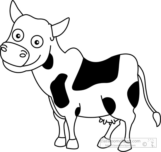 Cow And Calf Clipart Black And White.