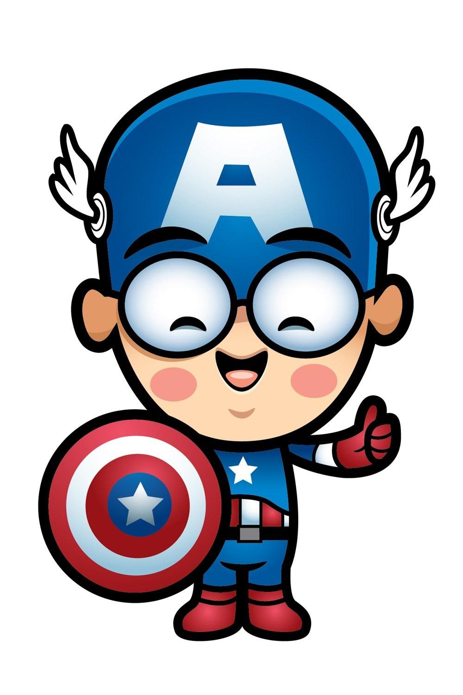 1329 Captain America free clipart.