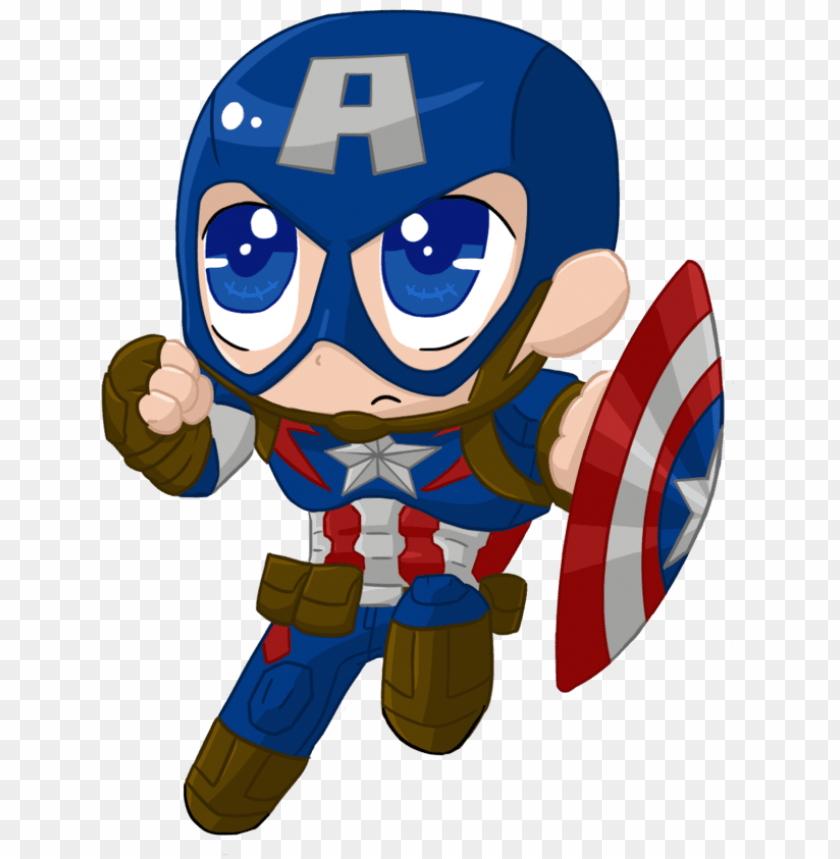 clip transparent library captainamerica aou chibi by.