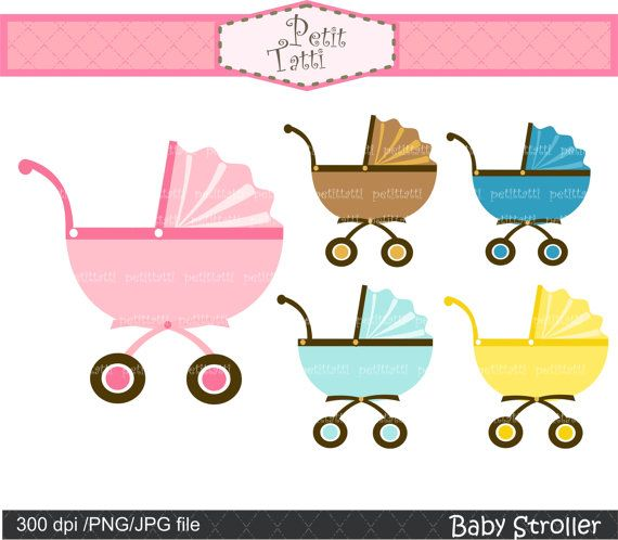 baby clip art baby car clip art Instant download by.