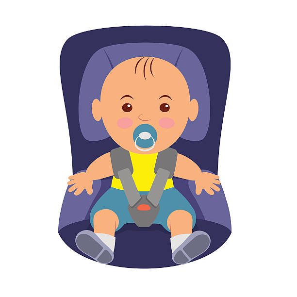 Best Baby In Car Seat Illustrations, Royalty.