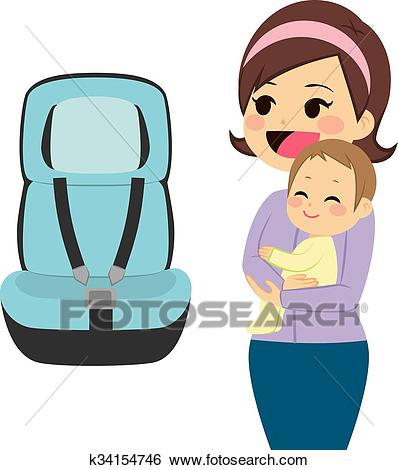 Baby Car Seat Clip Art.