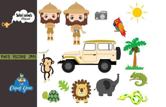 Safari clipart, Animals clipart, Baby animals, Jungle.