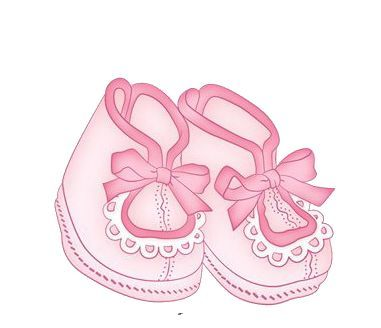 Pink Baby Booties Clipart Png.