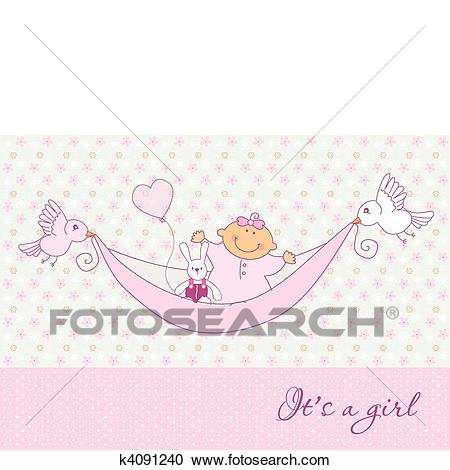 Baby card Clipart.