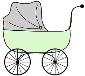Free Baby Carriage Clipart.