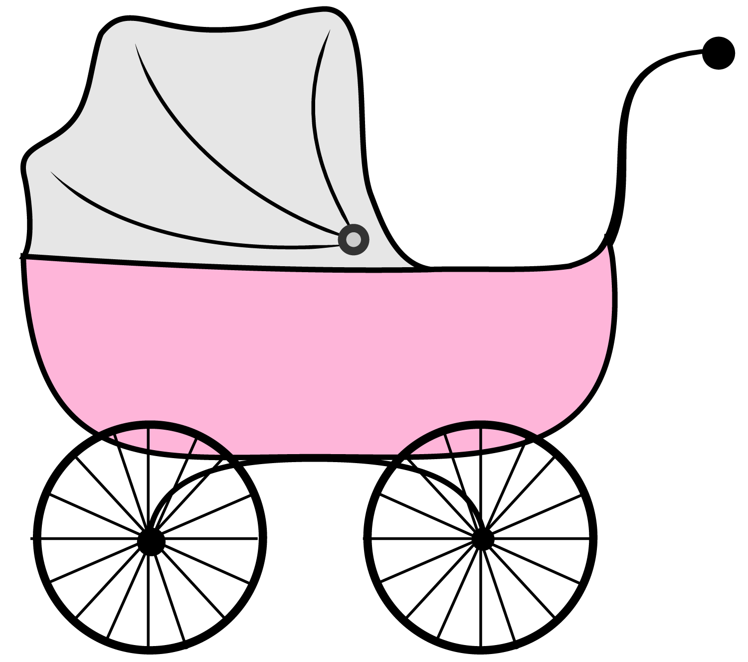 Free Pink Baby Carriage Clipart, Download Free Clip Art.