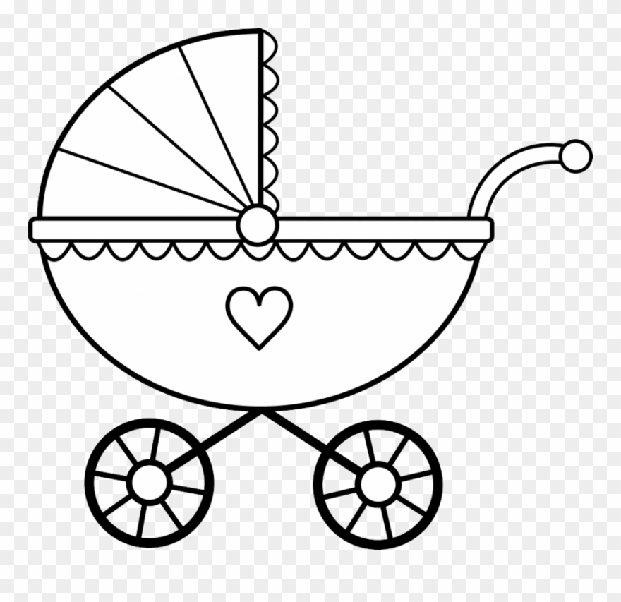 Download Baby Stroller Coloring Page Clipart Colouring.
