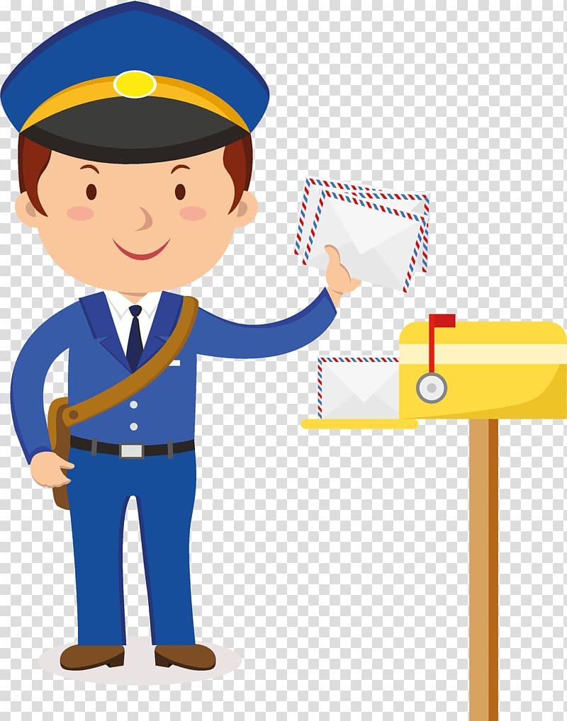 Policeman , Mail carrier , postman transparent background.