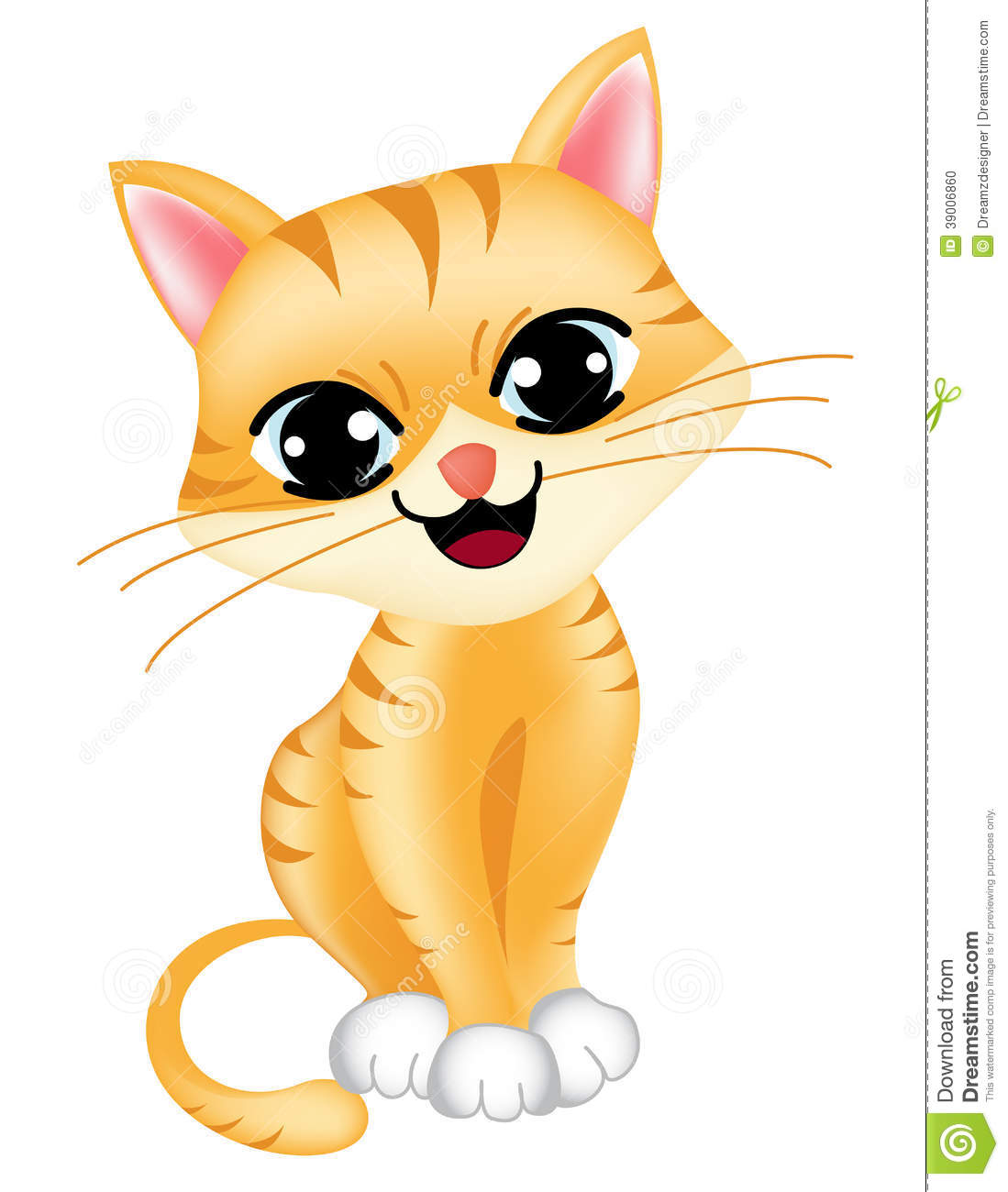 Clipart cute baby cat.