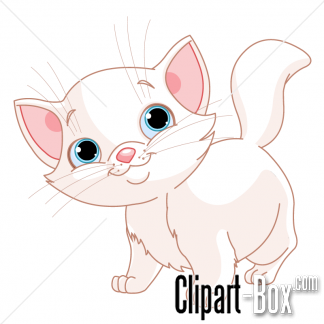Baby cat clipart.