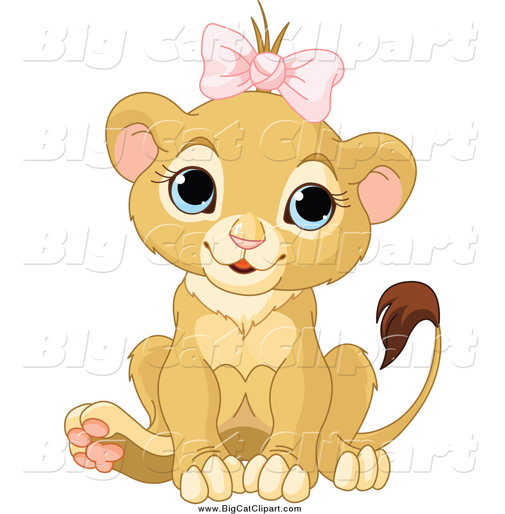 Cute baby cat clipart.