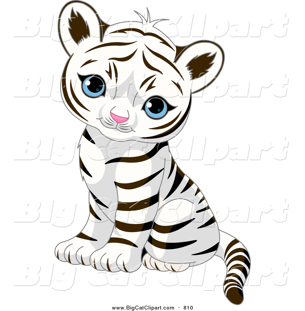 Royalty Free Stock Big Cat Designs of Baby Animals.
