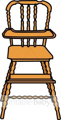 High Chair Clipart.