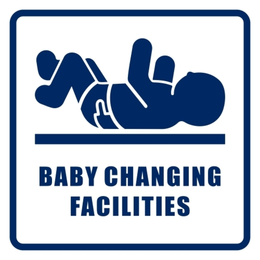 Baby Change Room Signs