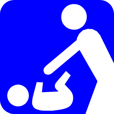 Diaper changing table clipart.