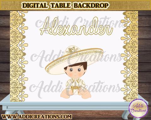 Charro Backdrop, Customized tIem, Charro Digital Backdrop, le Table  Backdrop Charro, Gold Charro Backdrop.