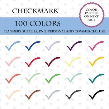 100 Checklist Clipart, Baby Checkmark icon school sticker, School Marks.