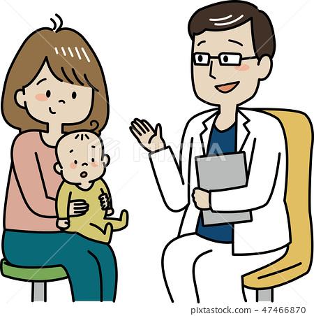 Baby undergoing checkup.