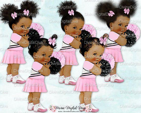 Cheerleader Pink White Uniform Pom Poms Sneakers.