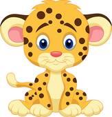 Baby Cheetah Clipart.