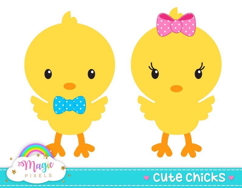 chick clipart, Easter clipart, cute chicks, baby chick clipart, Commercial  Use, INSTANT DOWNLOAD.