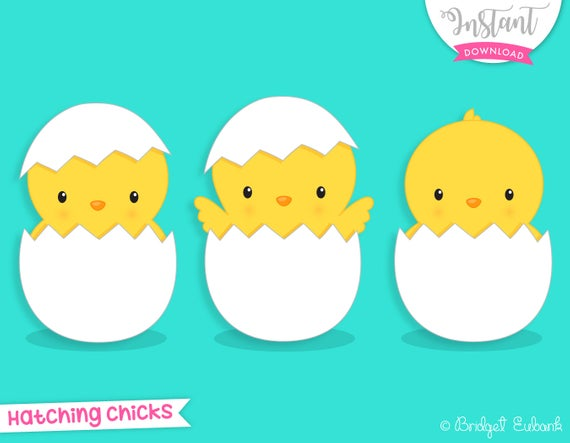 Chick clipart, Easter clipart, chicks hatching, cute chicks, baby chick  clip art, Commercial Use, INSTANT DOWNLOAD.