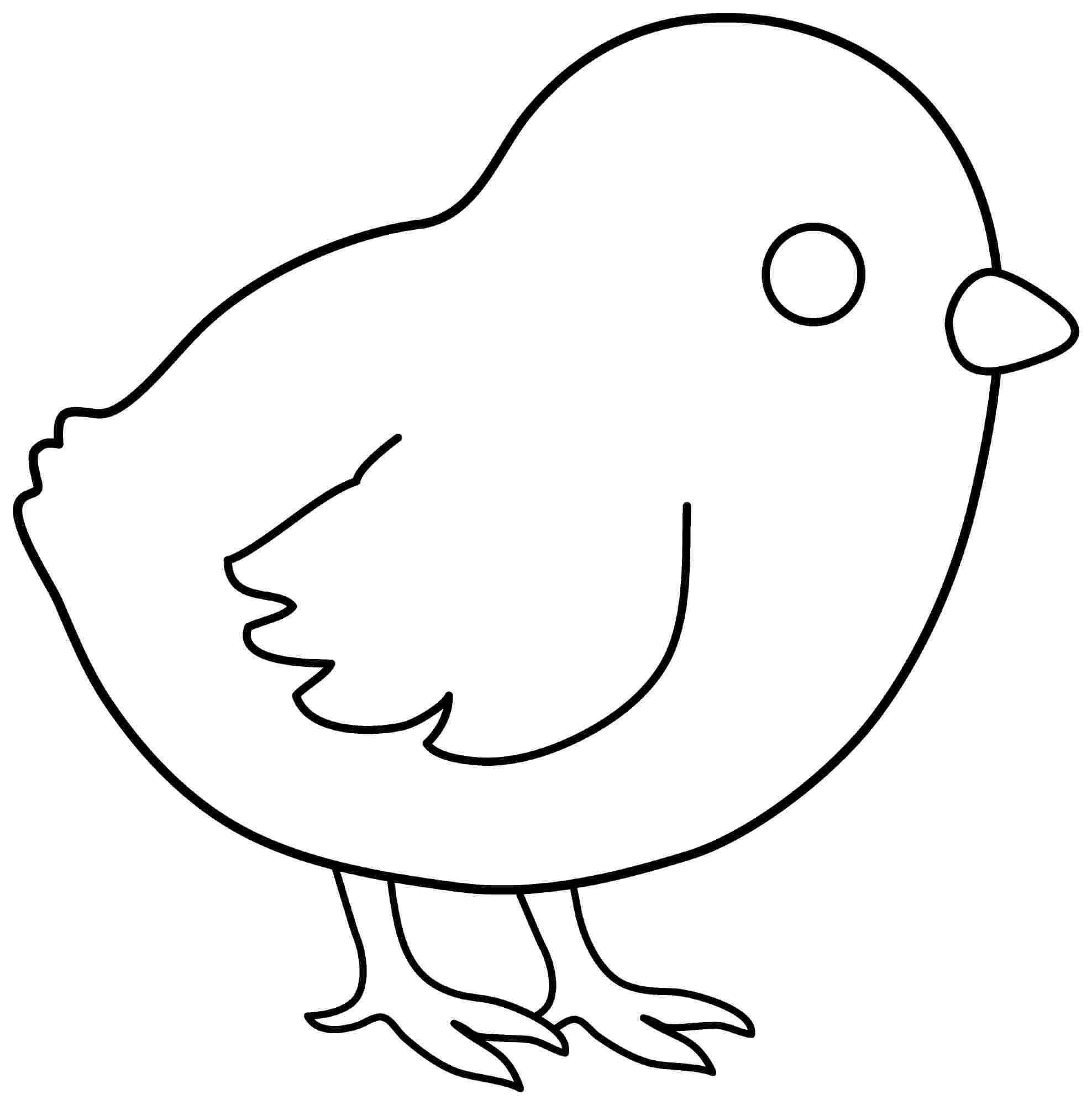 Best Images of Printable Chick And Chicken.