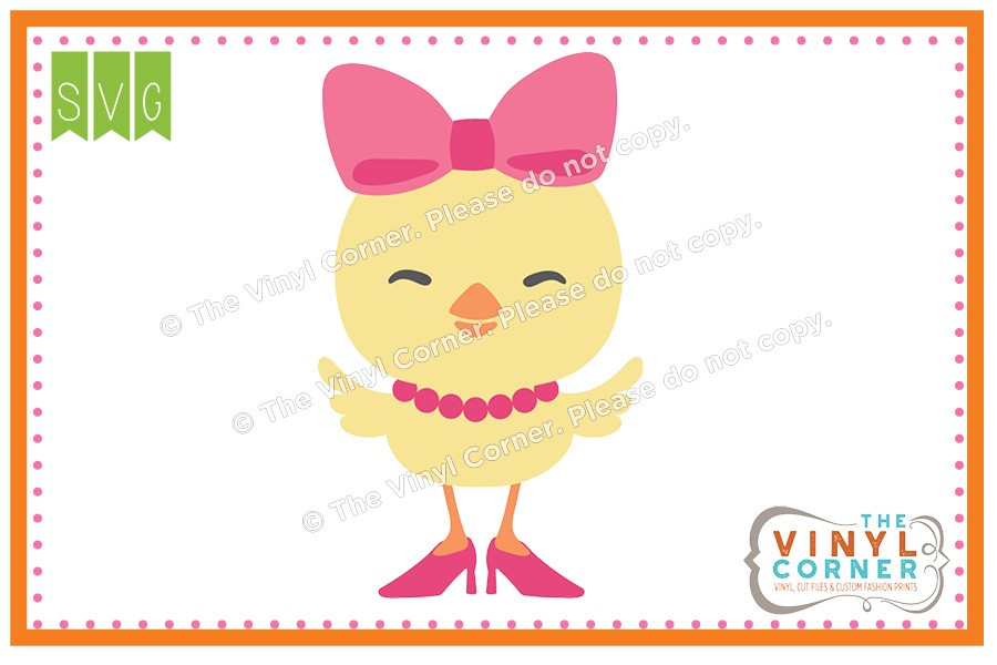Applique Corner Girl Chick SVG Clipart Design SVG Clipart Design.