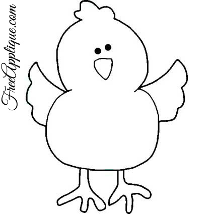 Baby Chick Template.