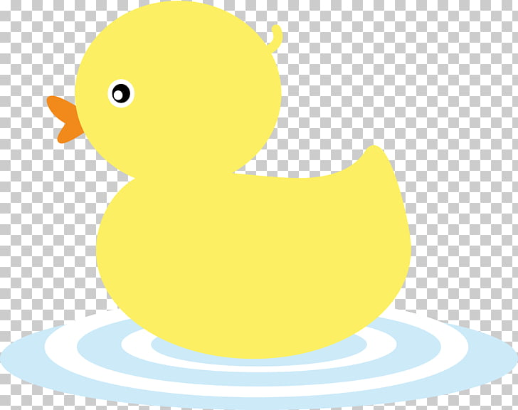 Little Yellow Duck Project, Ducklings swimming, yellow.