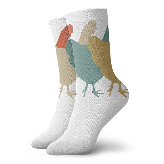 Amazon.com: Chickens Clipart Mens Dress Socks Novelty Short.
