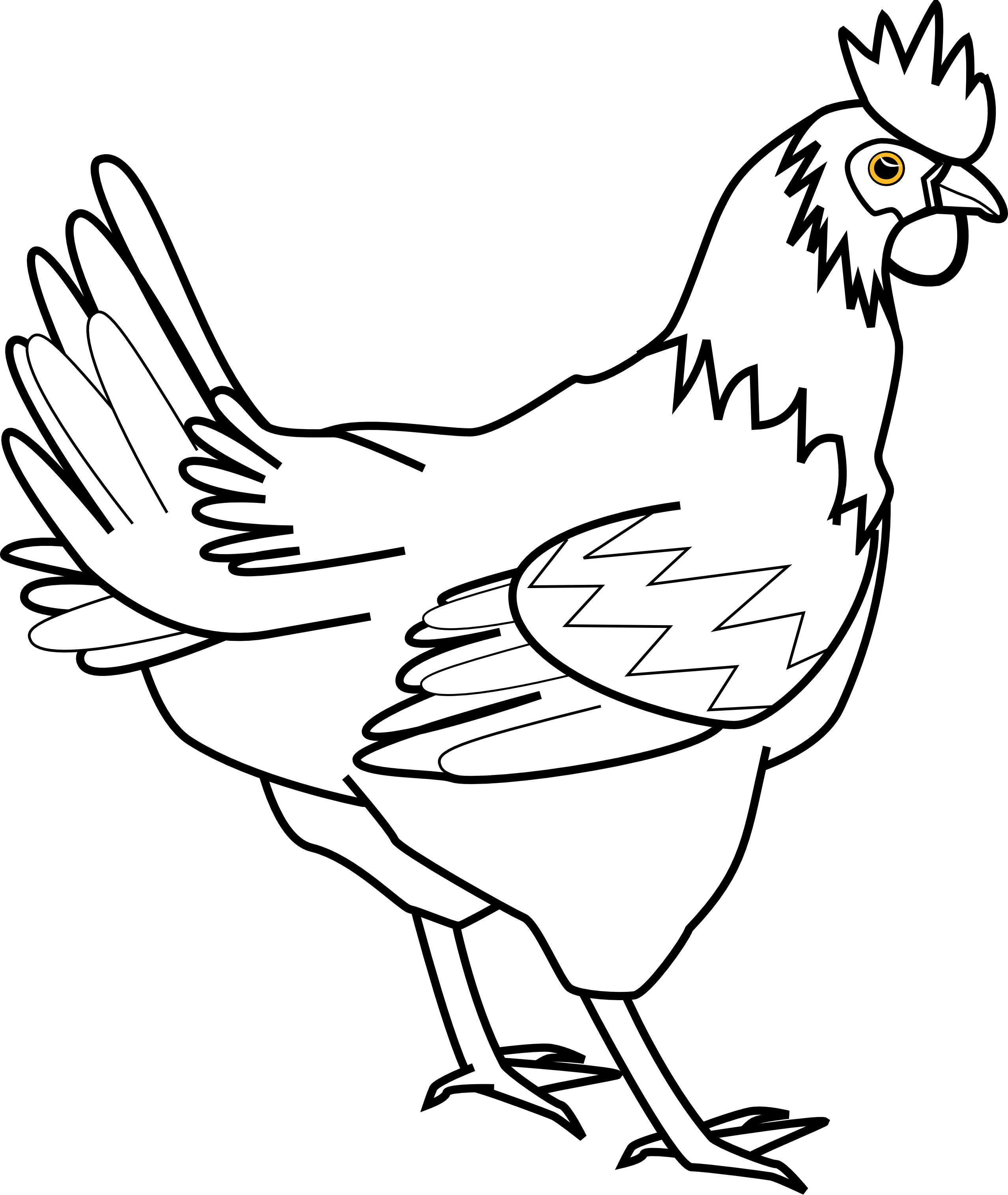 Chicken Clipart Black And White & Chicken Black And White Clip Art.