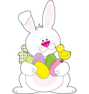 Easter bunny vector.