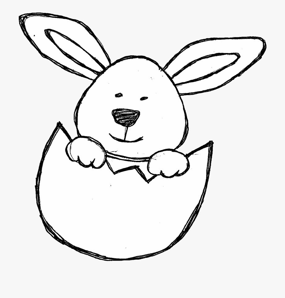 Doodles Clip Art Set Of Bunnies, Baby Chicks, Ducks.