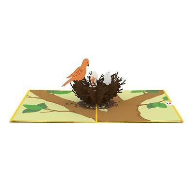 LOVEPOP UP 3D Laser Greeting Card Bird Nest Egg Hatch Chirp.