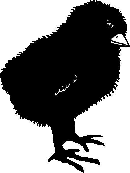 Black Baby Chick Clip Art at Clker.com.