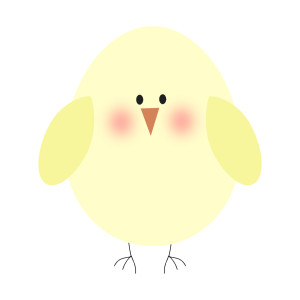 Baby easter chicks clipart.
