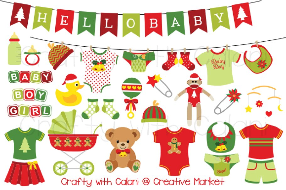 Christmas Baby Clipart.