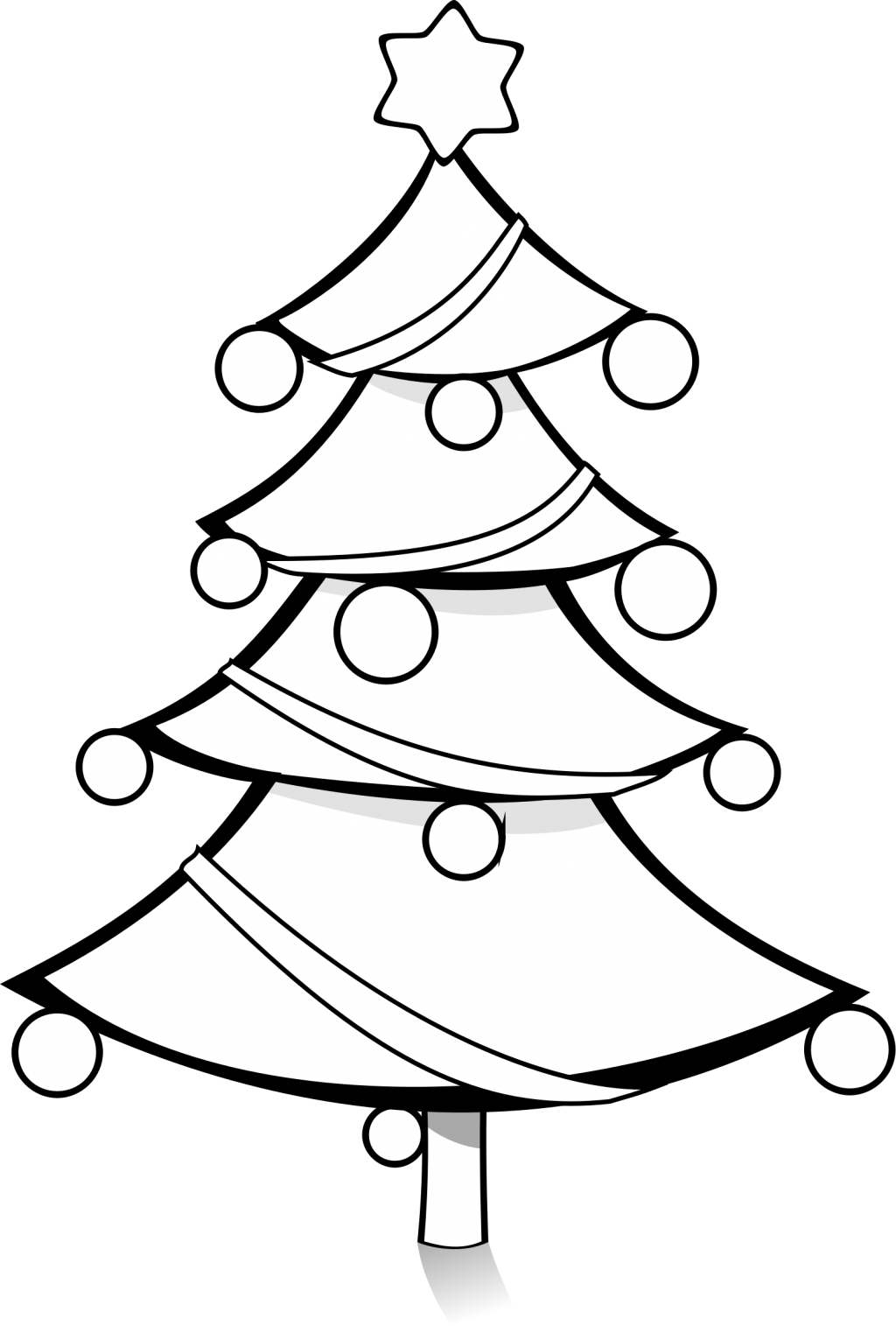 Library of christmas tree black and white picture library.