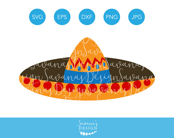 Sombrero SVG, Cinco De Mayo SVG, Mexico SVG, Mexican Hat Svg.