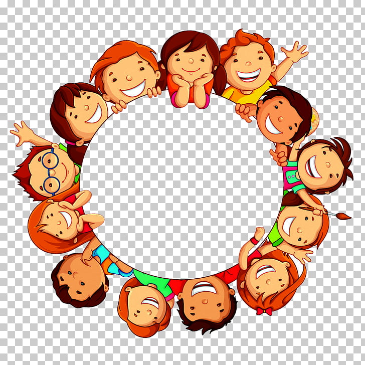 Child Circle , A world partner circle , circle of children.