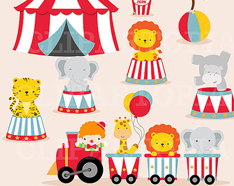 Animal Circus Clipart.