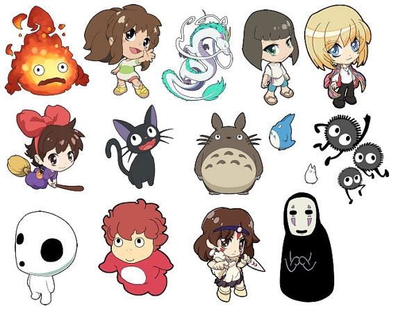 Studio Ghibli anime Art Stickers.