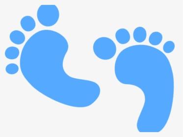 Light Blue Clipart Blue Baby Foot.