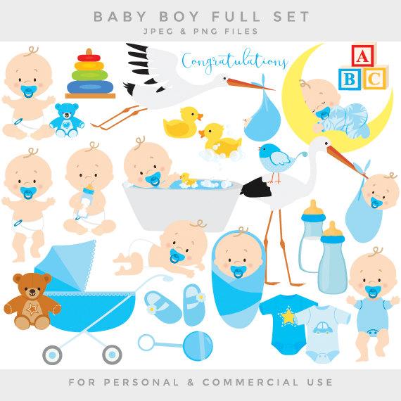 Baby clipart baby clip art baby boy baby shower pregnancy.
