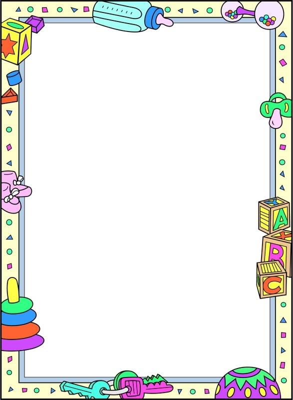 Baby Border Clip Art Outline.