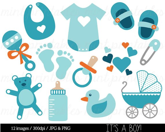 Baby Boy, Baby Shower Clipart Clip Art, Blue Baby Clipart.