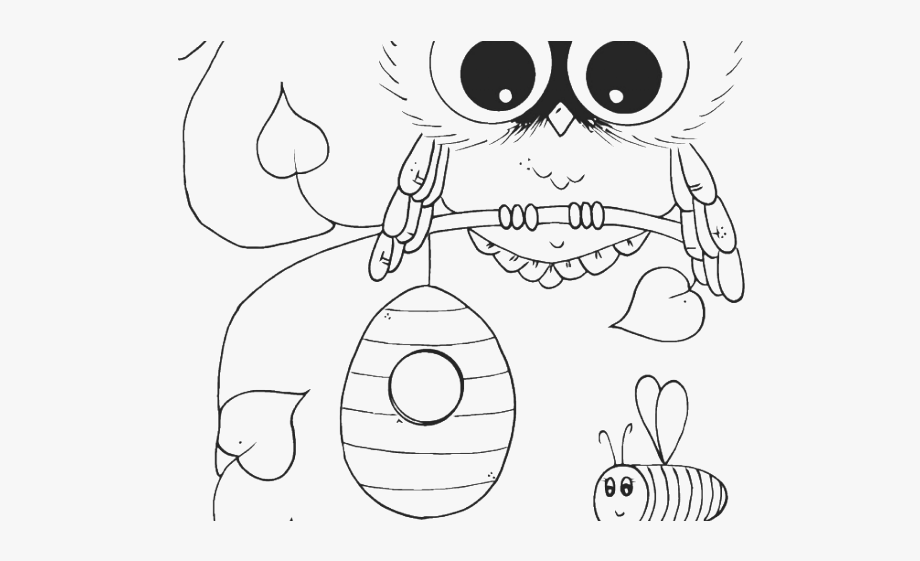 Cute Baby Owl Coloring Pages.
